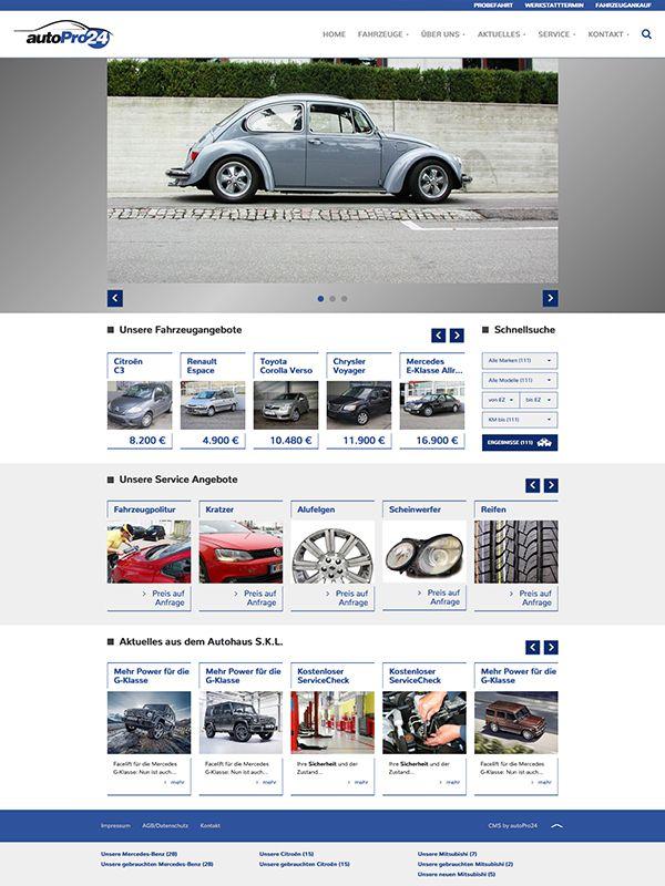 HPL 3: Slider frei Wählbar | Fahrzeugangebote + Suche | Service | News